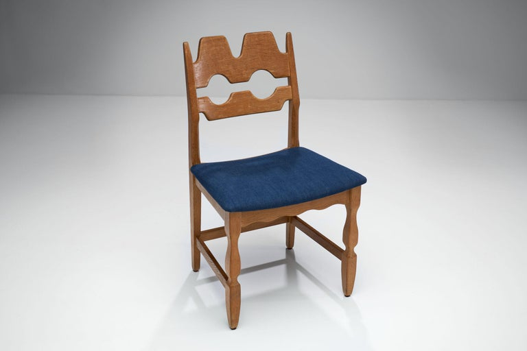 Set of 6 Razorblade Dining Chairs by Henning Kjaernulf, Denmark, 1960s In Good Condition For Sale In Utrecht, NL