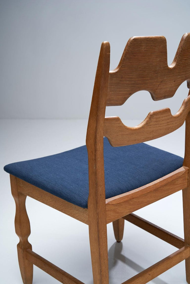 Mid-20th Century Set of 6 Razorblade Dining Chairs by Henning Kjaernulf, Denmark, 1960s For Sale