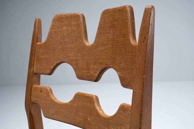 Wood Set of 6 Razorblade Dining Chairs by Henning Kjaernulf, Denmark, 1960s For Sale