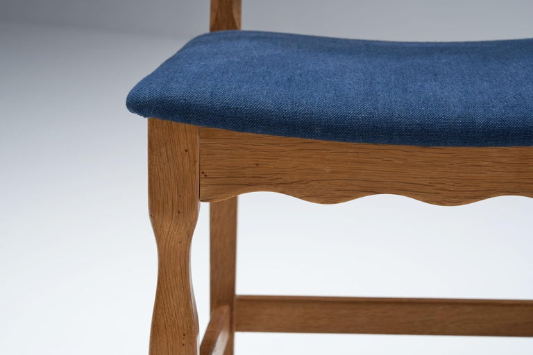 Set of 6 Razorblade Dining Chairs by Henning Kjaernulf, Denmark, 1960s For Sale 2