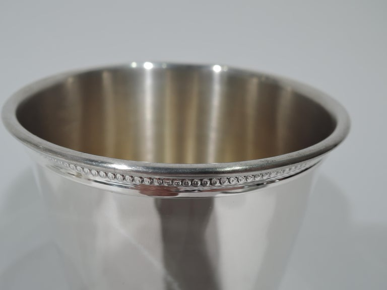 Set of 6 Reed & Barton Sterling Silver Mint Julep Cups from Carter Era In Good Condition For Sale In New York, NY