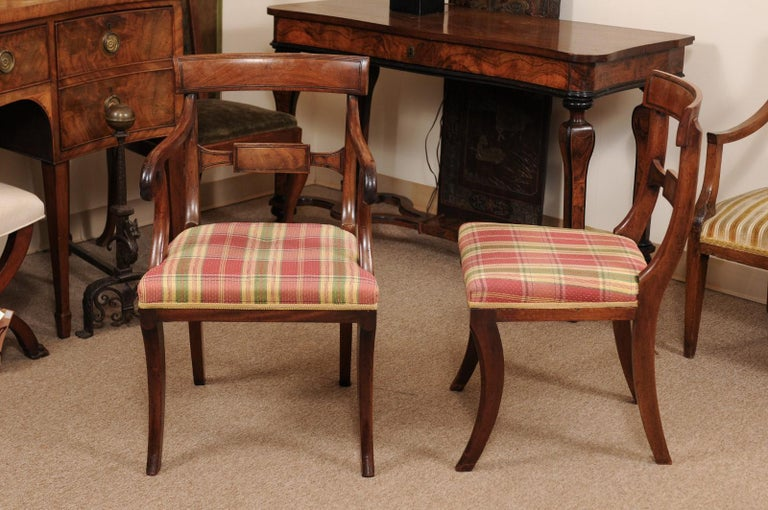 Set of 6 Regency English Mahogany Dining Chairs For Sale 6