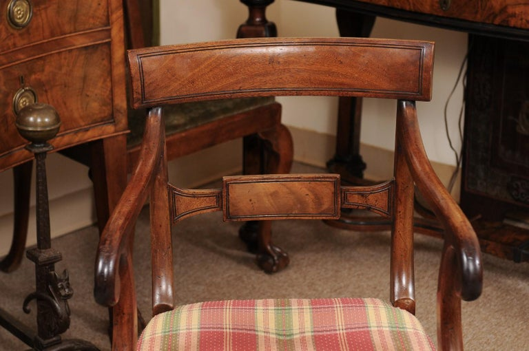 Set of 6 Regency English Mahogany Dining Chairs For Sale 7