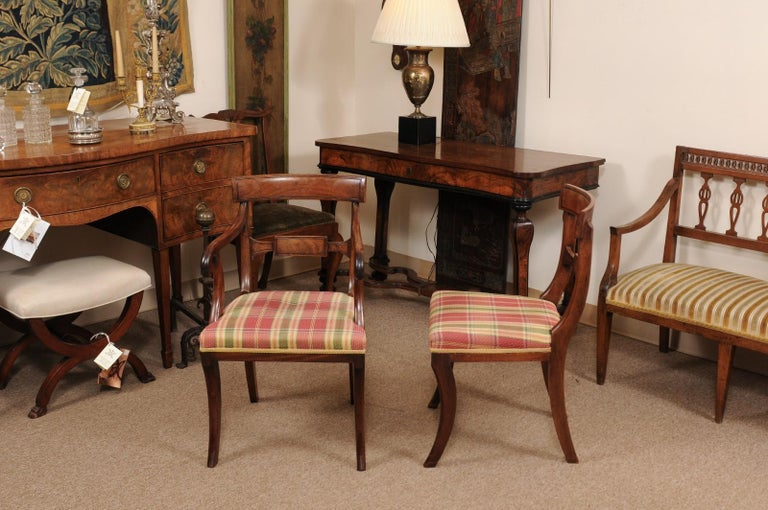 Set of 6 Regency English Mahogany Dining Chairs For Sale 8