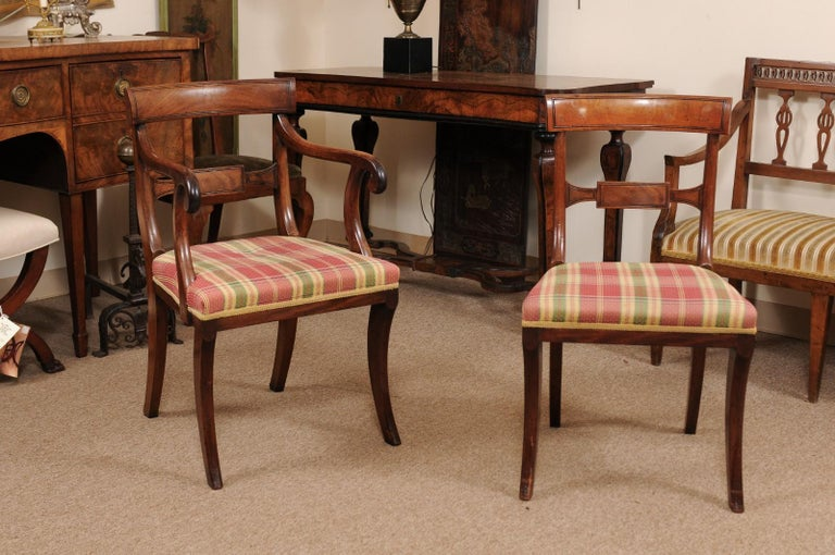 Set of 6 Regency English Mahogany Dining Chairs In Good Condition For Sale In Atlanta, GA