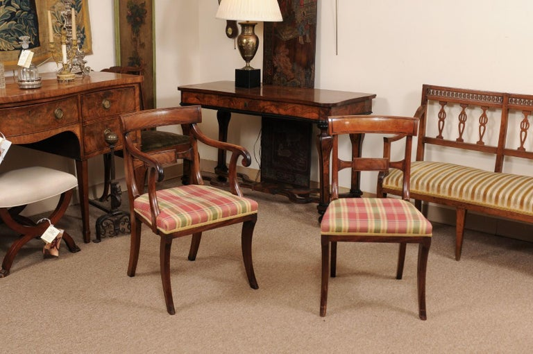 19th Century Set of 6 Regency English Mahogany Dining Chairs For Sale