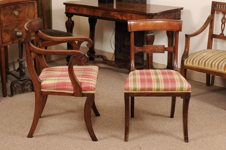 Set of 6 Regency English Mahogany Dining Chairs For Sale 1