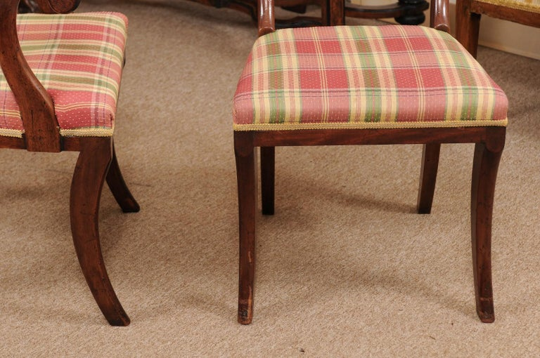 Set of 6 Regency English Mahogany Dining Chairs For Sale 2