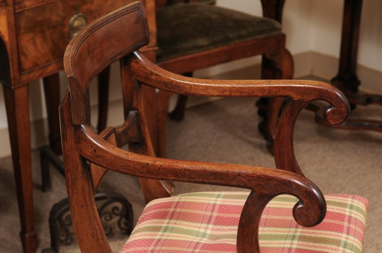Set of 6 Regency English Mahogany Dining Chairs For Sale 3