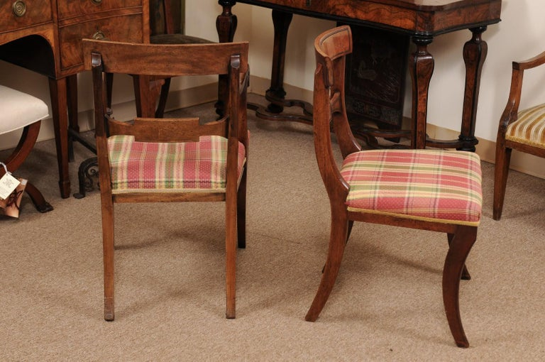 Set of 6 Regency English Mahogany Dining Chairs For Sale 4