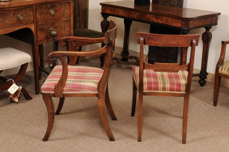 Set of 6 Regency English Mahogany Dining Chairs For Sale 5
