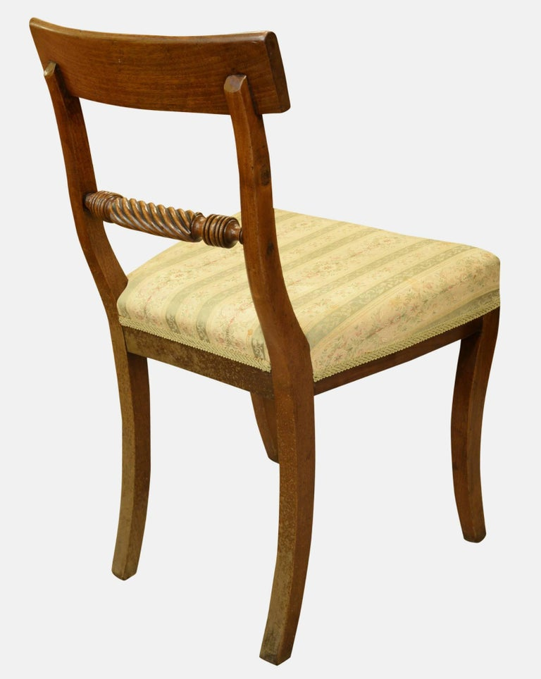 Set of 6 Regency Period Dining Chairs In Good Condition For Sale In Salisbury, GB