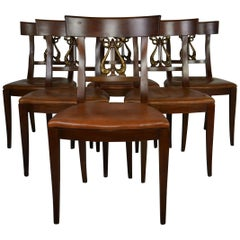 Set of 6 Regency Style Dining Chairs