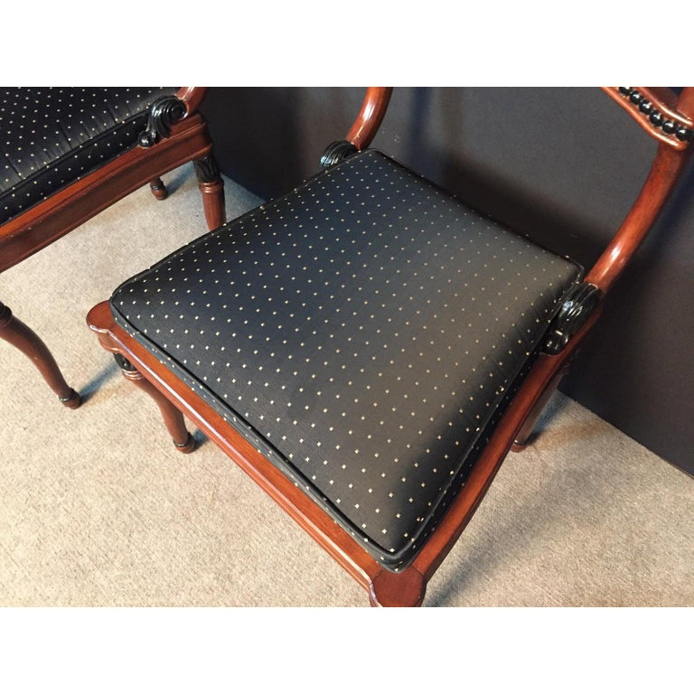 Fruitwood Set of 6 Regency Style Dining Room Chairs For Sale
