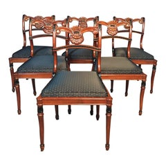 Set of 6 Regency Style Dining Room Chairs