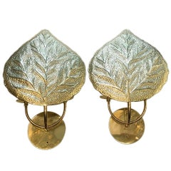 Set of 6 Repoussé Brass Sconces
