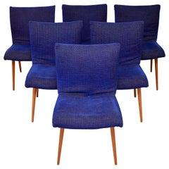 Set of 6 Retro Ligne Roset Dining Chairs