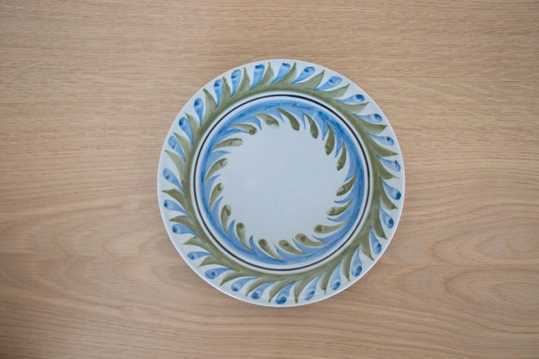 French Set of 6 Roger Capron Painted Plates