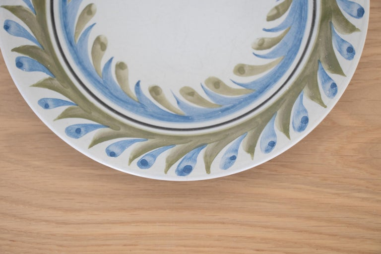 20th Century Set of 6 Roger Capron Painted Plates