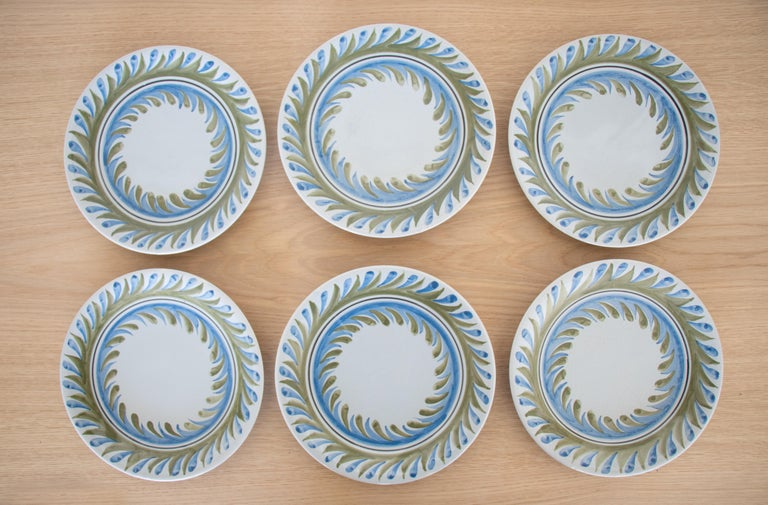 Set of 6 Roger Capron Painted Plates 1