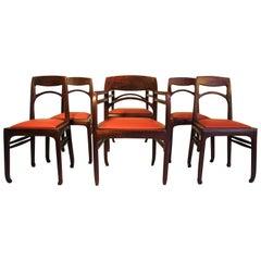 Set of 6 Rosewood Chairs by Richard Riemerschmid