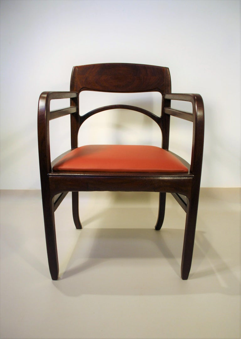 Set of 6 Rosewood Chairs from Richard Riemerschmid For Sale 5