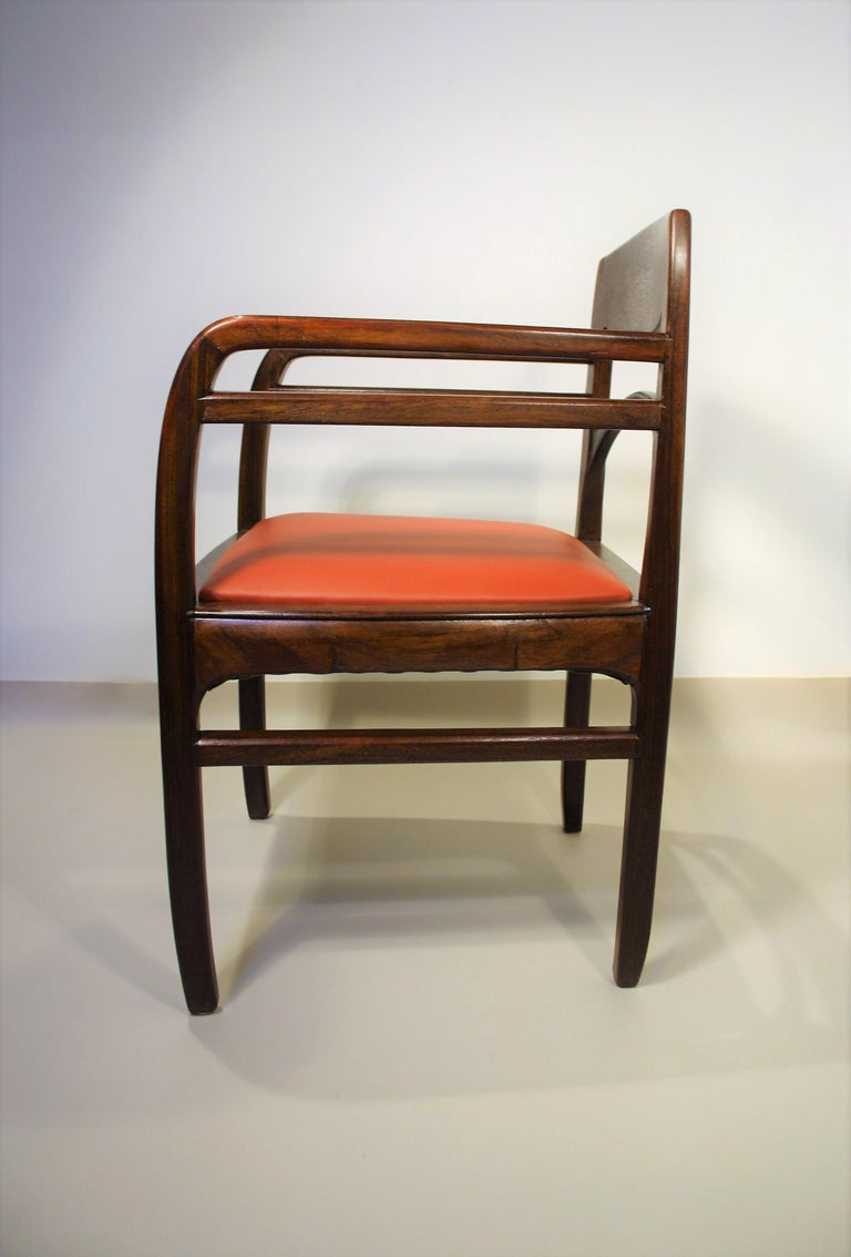 Set of 6 Rosewood Chairs from Richard Riemerschmid For Sale 6