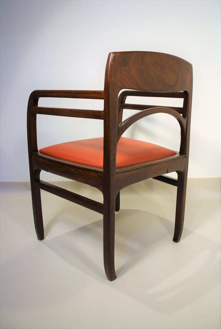 Set of 6 Rosewood Chairs from Richard Riemerschmid For Sale 7