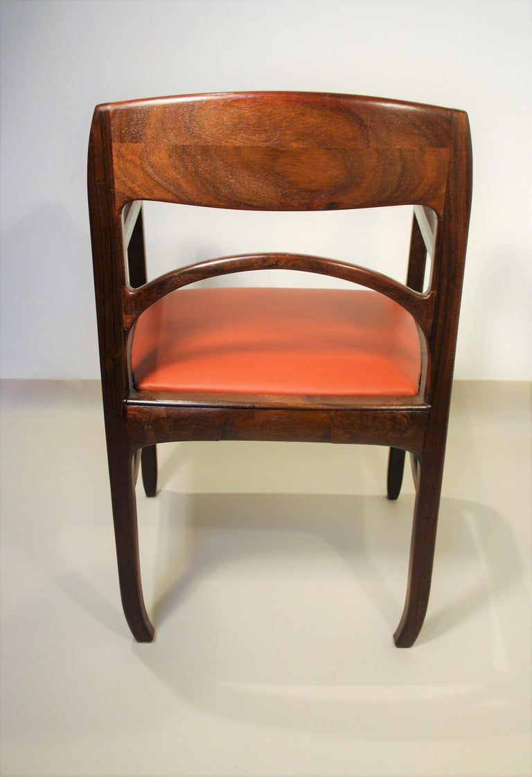 Set of 6 Rosewood Chairs from Richard Riemerschmid For Sale 8