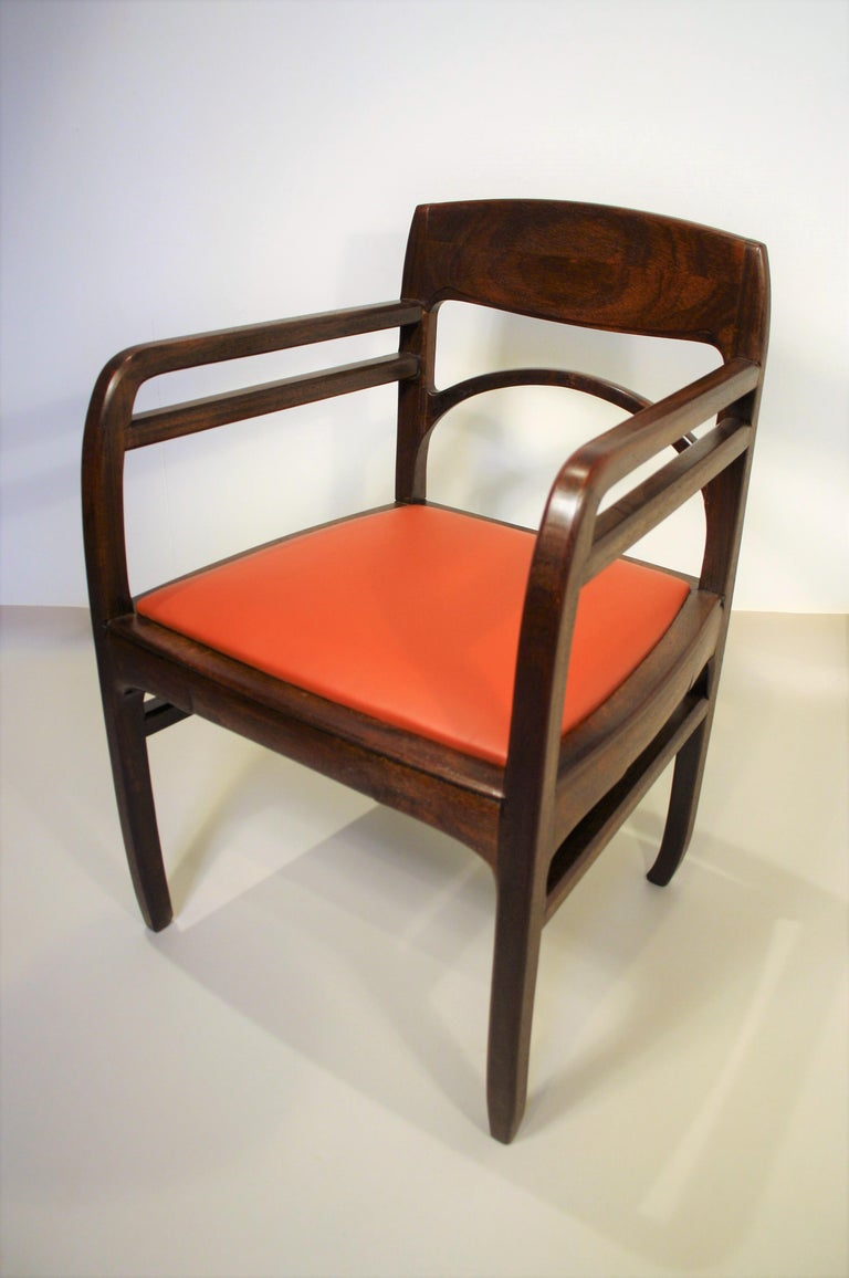 Set of 6 Rosewood Chairs from Richard Riemerschmid For Sale 9
