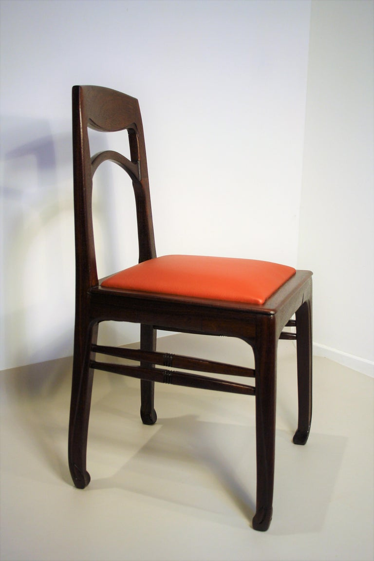 German Set of 6 Rosewood Chairs from Richard Riemerschmid For Sale