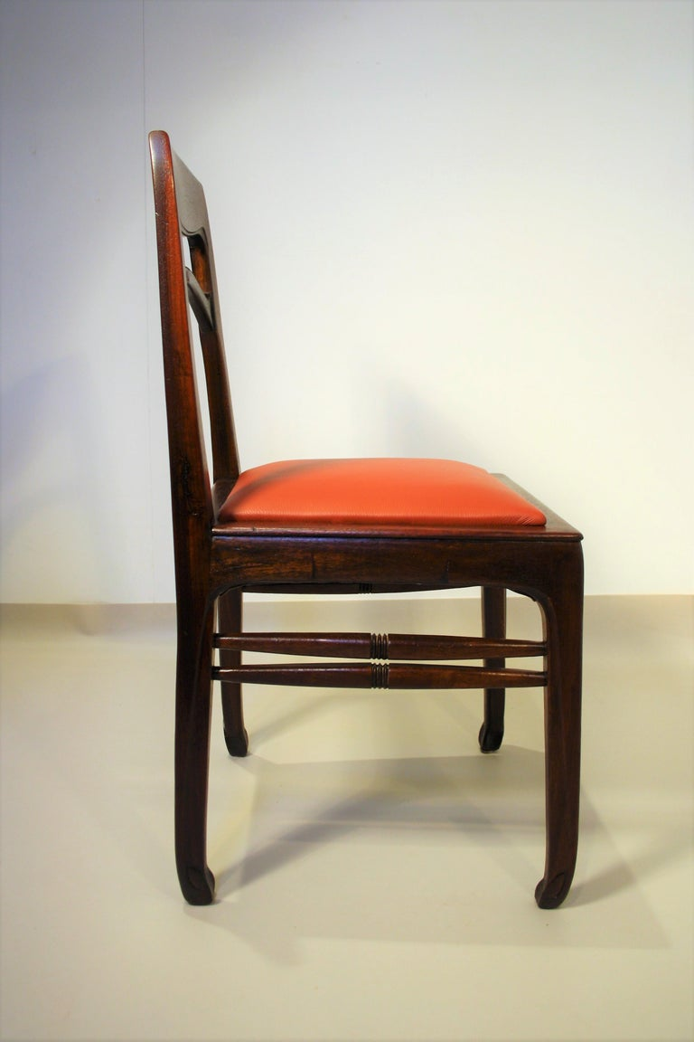 Early 20th Century Set of 6 Rosewood Chairs from Richard Riemerschmid For Sale