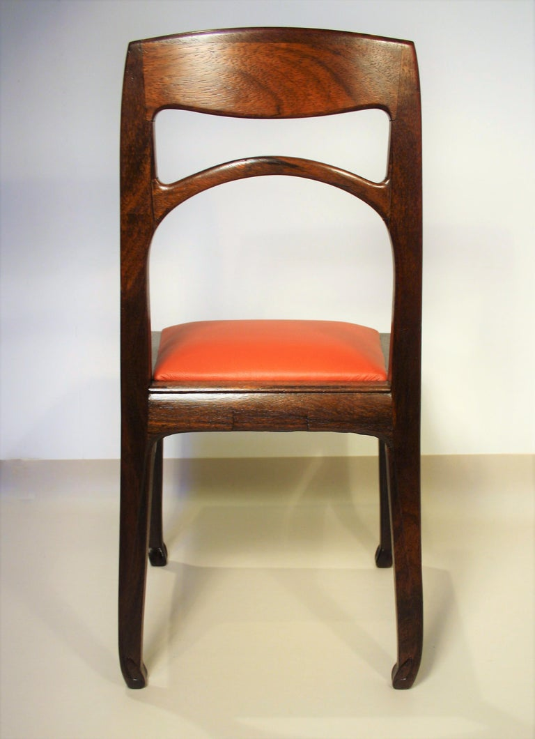 Set of 6 Rosewood Chairs from Richard Riemerschmid For Sale 1