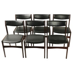 Set of 6 Rosewood Danish Modern Dining Chairs by Anderstrup Mobelfabrik