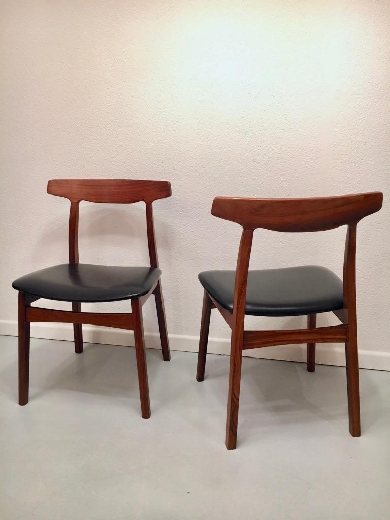 Set of 6 Rosewood Dining Chairs by Henning Kjaernulf for Bruno Hansen, Denmark 9