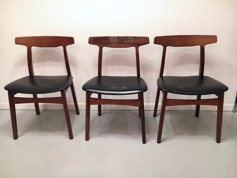 Set of 6 Rosewood Dining Chairs by Henning Kjaernulf for Bruno Hansen, Denmark 1