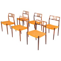 Set of 6 Rosewood Dining Chairs by Niels Moller