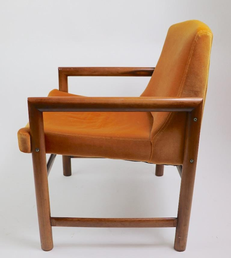 20th Century Set of 6 Rosewood Frame Dining Chairs by Baughman For Sale
