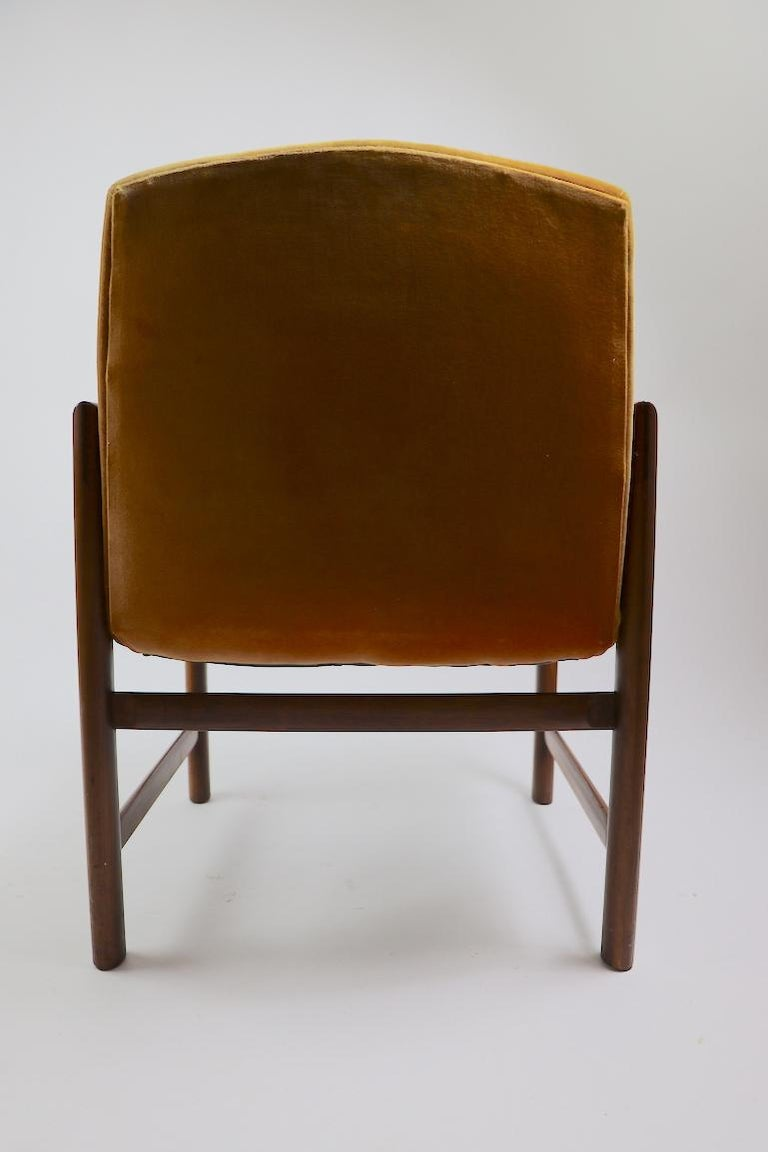 Set of 6 Rosewood Frame Dining Chairs by Baughman For Sale 2