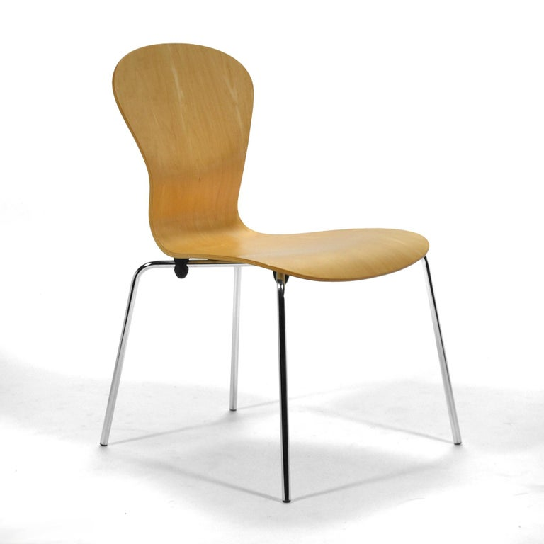 "Plated Set of 6 Ross Lovegrove ""Sprite"" Chairs For Sale"