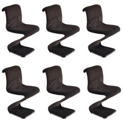 "Set of 6 ""S"" Chairs Designed by Verner Panton"