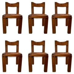Set of 6 'S11' Chairs by Pierre Chapo