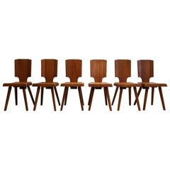Set of 6 S28 Chairs by Pierre Chapo