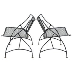 Set of 6 Salterini Style Patio Dining Chairs