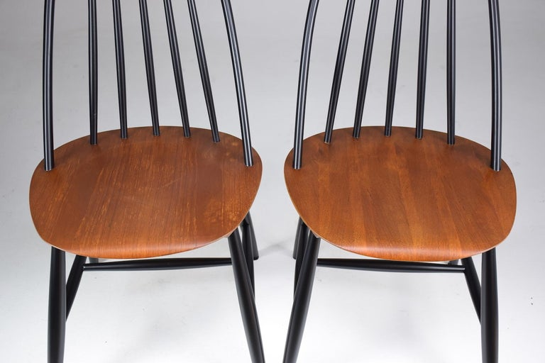 Set of 6 Scandinavian Midcentury Dining Chairs by Hagafors, 1960s For Sale 4