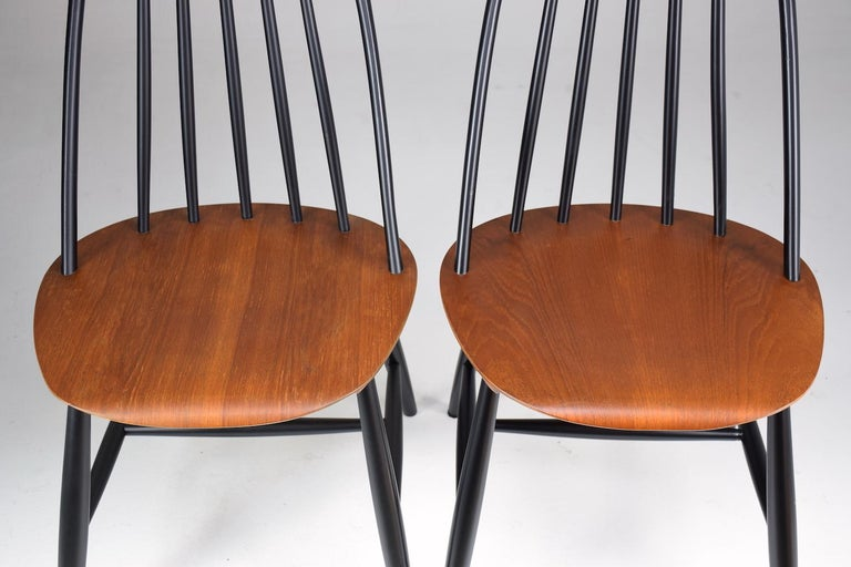 Set of 6 Scandinavian Midcentury Dining Chairs by Hagafors, 1960s For Sale 5