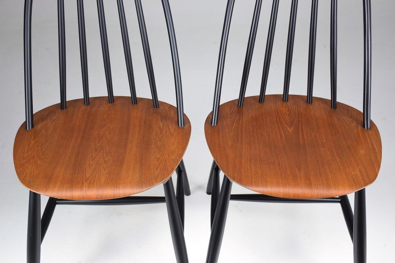 Set of 6 Scandinavian Midcentury Dining Chairs by Hagafors, 1960s For Sale 6
