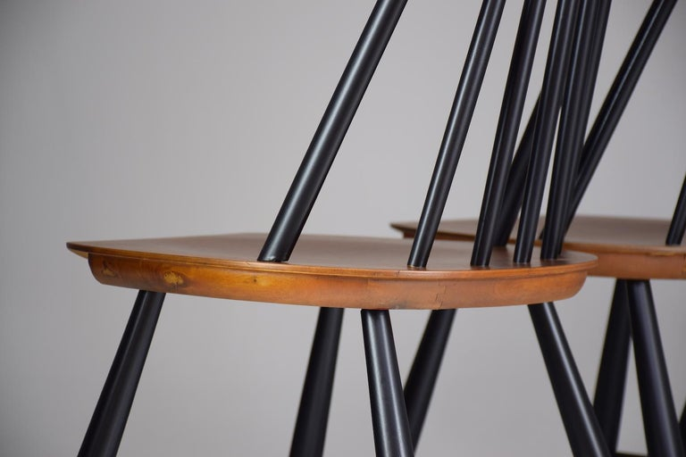 Set of 6 Scandinavian Midcentury Dining Chairs by Hagafors, 1960s For Sale 1
