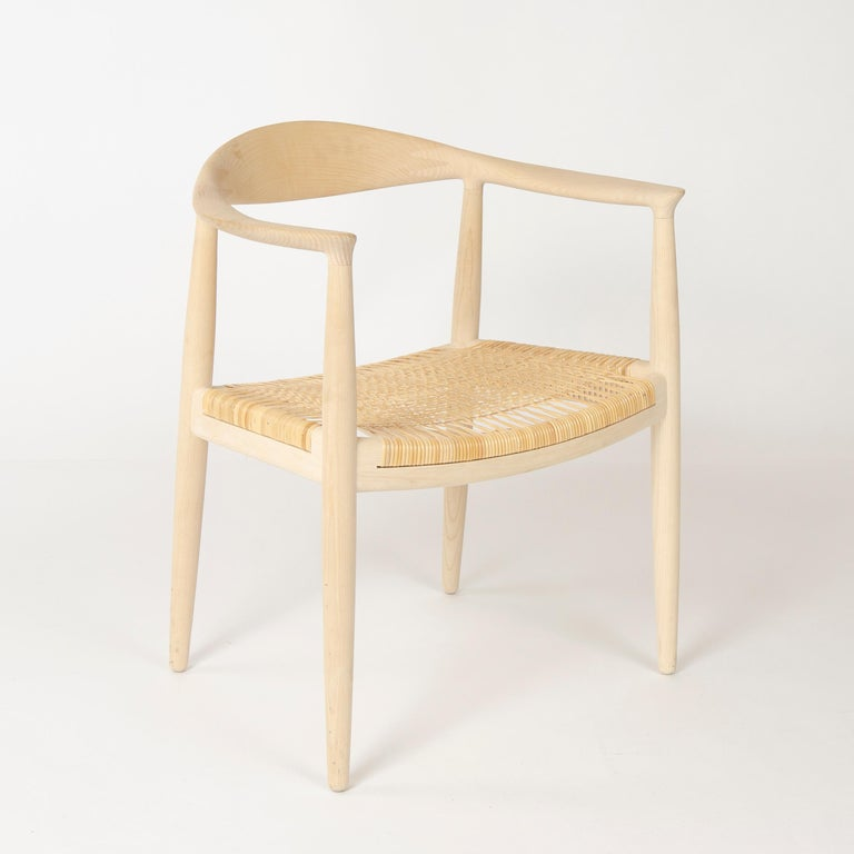 Set of 6 Danish PP501 Round Chairs in Ash by Hans J. Wegner for PP Møbler In Good Condition For Sale In Sagaponack, NY
