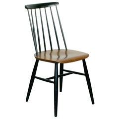 Set of 6 Scandinavian Modern Teak and Black Dining Chairs by Ilmari Tapiovaara